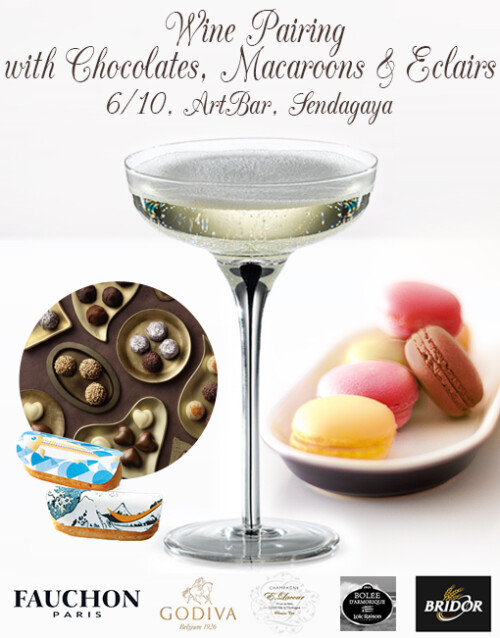 Wine Pairing with Chocolates, Macaroons & Eclairs